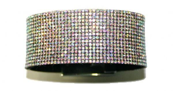 Diamante crystal bling cuff bracelet kit - Clear AB - c4009002kit